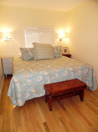 Click to enlarge image Naptime after a day at the beach - The Light House, Charming 2BR, Dog Friendly, Screened Porch - Private Home, Sleeps 6, Fenced Yard, Walk to shopping.